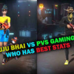 Ajjubhai VS PVS Gaming: Comparison on who has best stats in Free Fire | February 2021