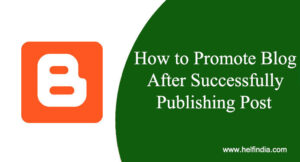 How to Promote Blog After Successfully Publishing Post