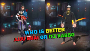 Ajjubhai VS Itz Kabbo Comparison on who has best stats in Free Fire  March 2021