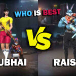 Ajjubhai VS Raistar: Comparison on who has best stats in Free Fire in March 2021