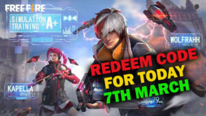 Redeem Code of Garena Free Fire for Today [7th March]  Claim Phantom Weapon Loot Crate for Free